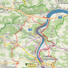 Mapa-trasa přes Vestec